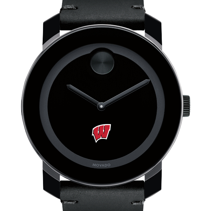 Wisconsin Men's Movado BOLD with Leather Strap