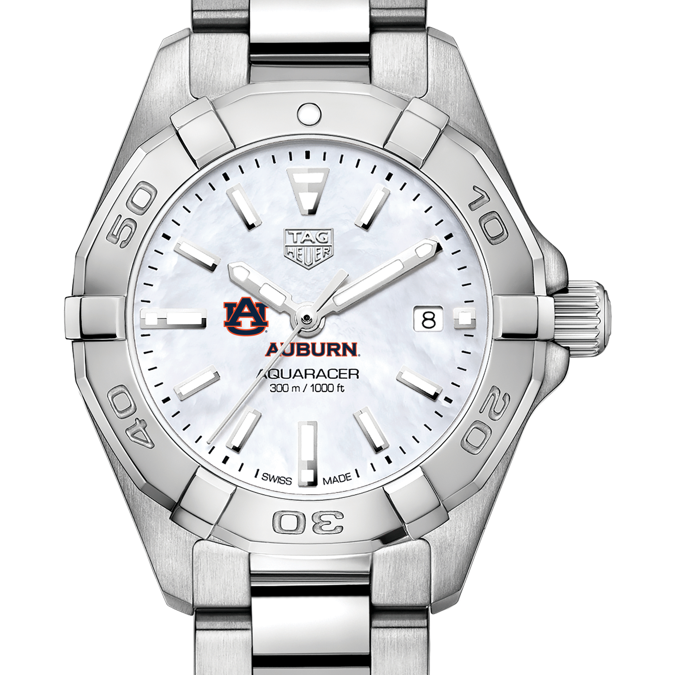 Auburn Women's TAG Heuer Steel Aquaracer with MOP Dial