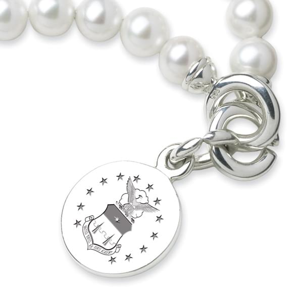 Air Force Academy Pearl Bracelet with Sterling Charm