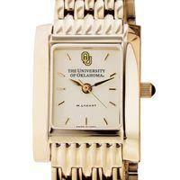 Oklahoma Women's Gold Quad Watch with Bracelet