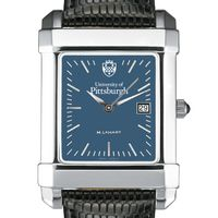 Pittsburgh Men's Blue Quad Watch with Leather Strap