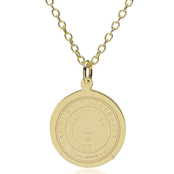 Auburn 14K Gold Pendant & Chain