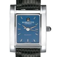 Marquette Women's Blue Quad Watch with Leather Strap
