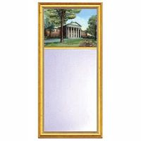 Ole Miss Eglomise Mirror with Gold Frame
