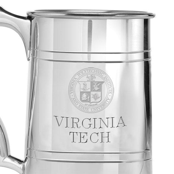 Virginia Tech Pewter Stein