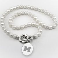 Michigan Pearl Necklace with Sterling Silver Charm Image-1 Thumbnail