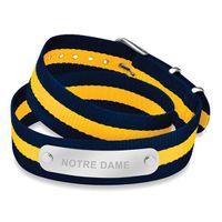 University of Notre Dame Double Wrap NATO ID Bracelet