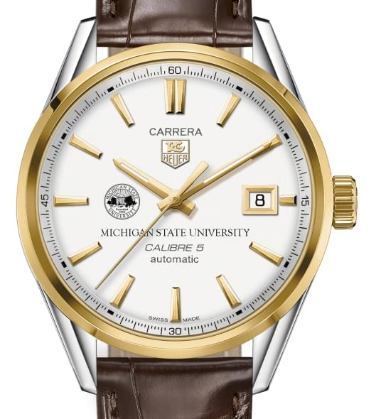 Michigan State Men's TAG Heuer Two-Tone Carrera with Strap