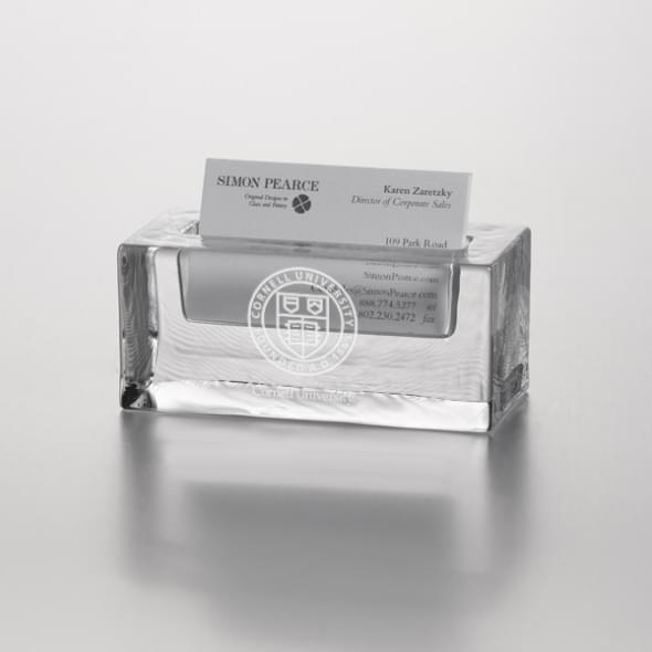 Cornell Glass Cardholder by Simon Pearce