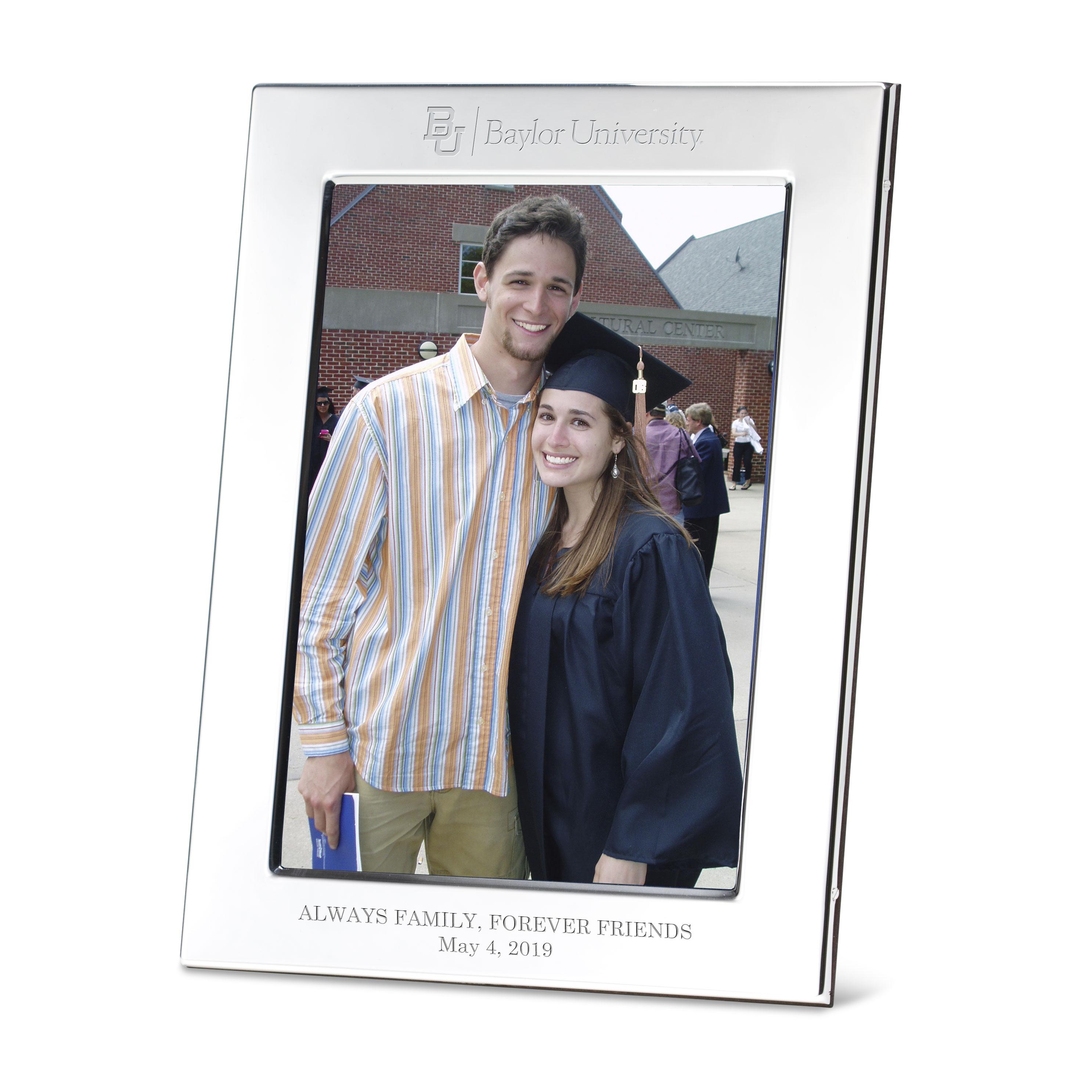 Baylor Polished Pewter 5x7 Picture Frame