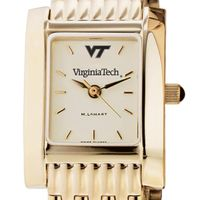 Virginia Tech Women's Gold Quad Watch with Bracelet