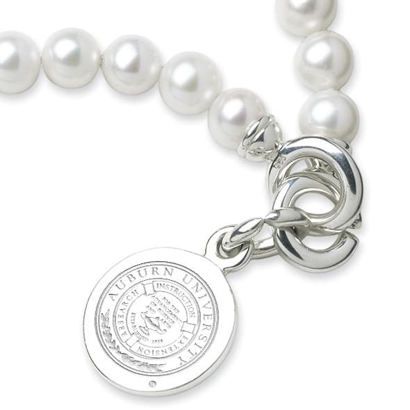 Auburn Pearl Bracelet with Sterling Silver Charm