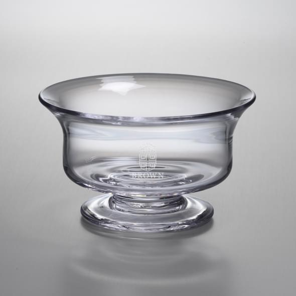 Brown Medium Glass Presentation Bowl by Simon Pearce