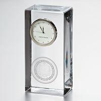 Berkeley Tall Glass Desk Clock by Simon Pearce