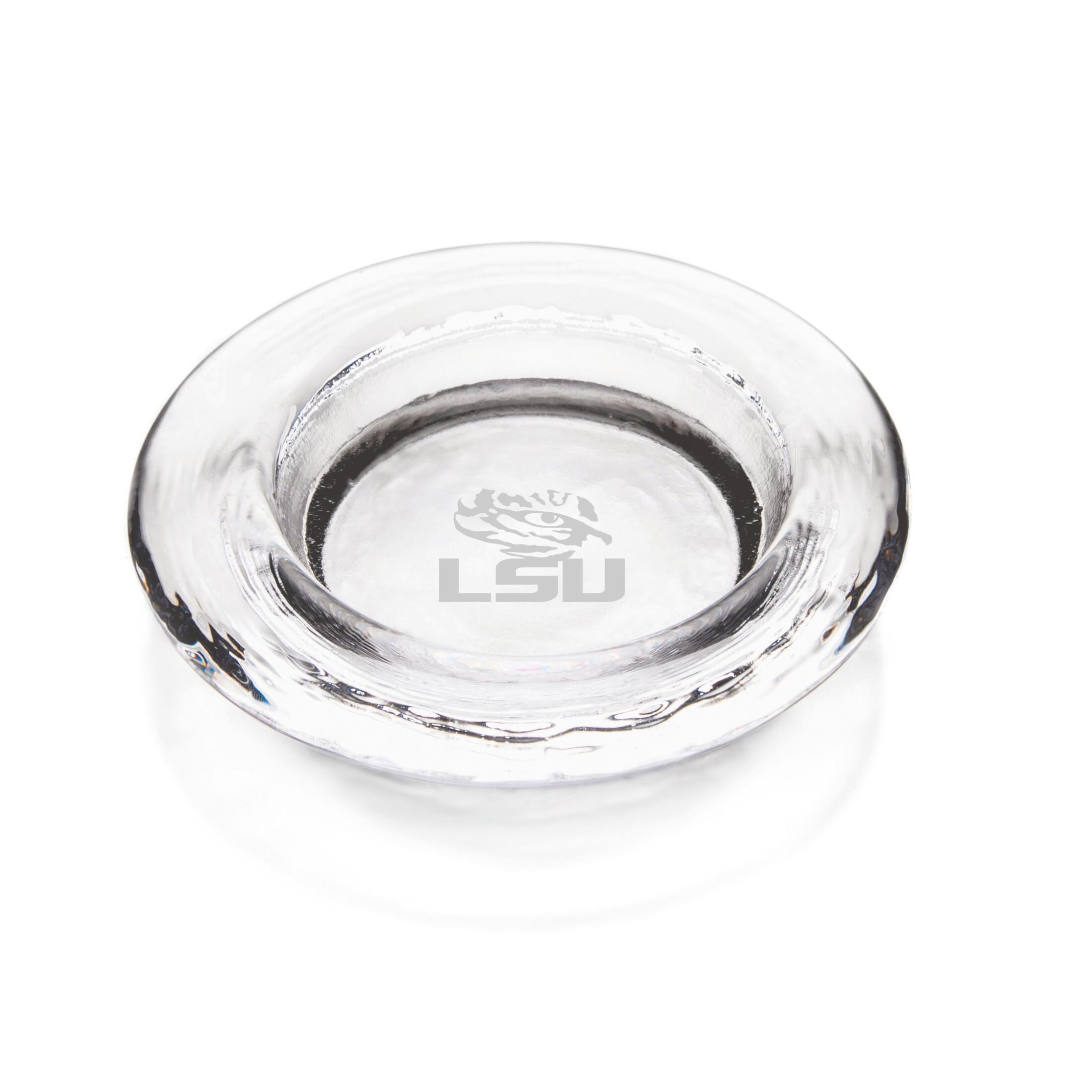 LSU Glass Wine Coaster by Simon Pearce