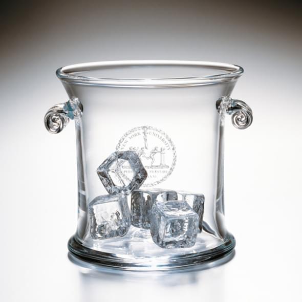 NYU Glass Ice Bucket by Simon Pearce