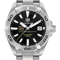 George Washington Men's TAG Heuer Steel Aquaracer with Black Dial
