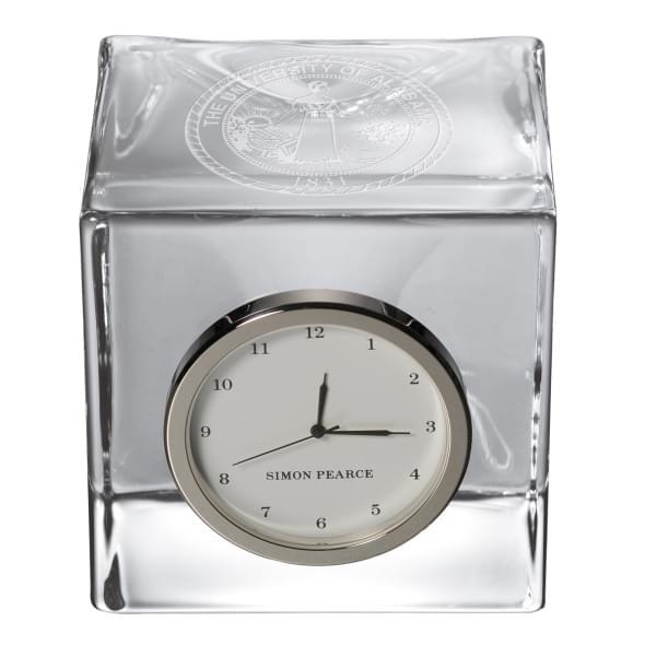 Alabama Glass Desk Clock by Simon Pearce