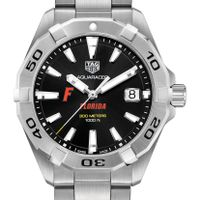 Florida Men's TAG Heuer Steel Aquaracer with Black Dial
