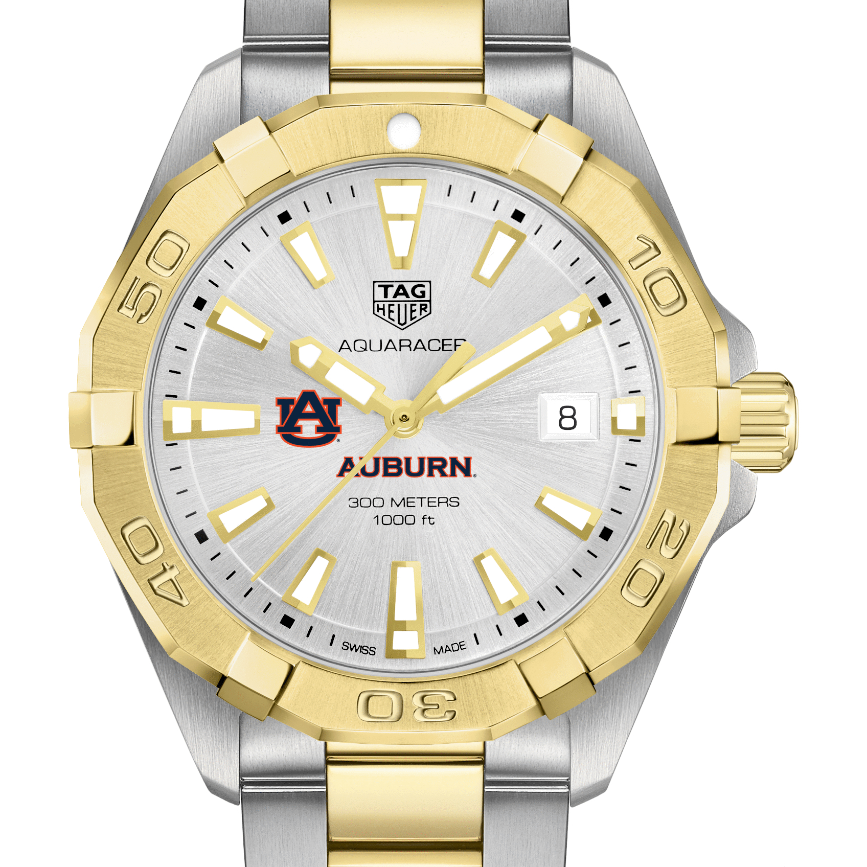 Auburn Men's TAG Heuer Two-Tone Aquaracer