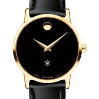 William & Mary Women's Movado Gold Museum Classic Leather