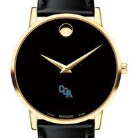Coast Guard Academy Men's Movado Gold Museum Classic Leather