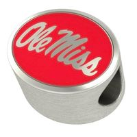 Ole Miss Enameled Bead in Color