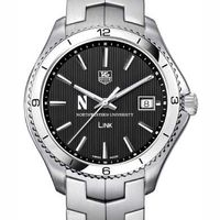 Northwestern TAG Heuer Men's Link Watch with Black Dial