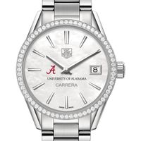 Alabama Women's TAG Heuer Steel Carrera with MOP Dial & Diamond Bezel