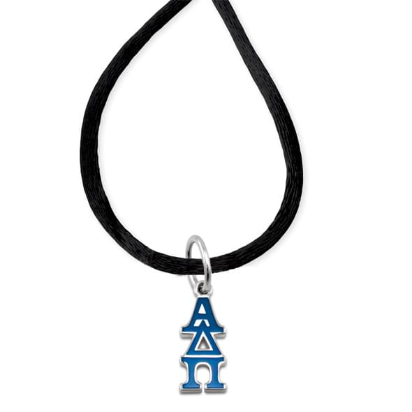 Alpha Delta Pi Satin Necklace with Greek Letter Charm