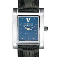 Vanderbilt Women's Blue Quad Watch with Leather Strap