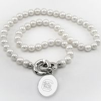 South Carolina Pearl Necklace with Sterling Silver Charm