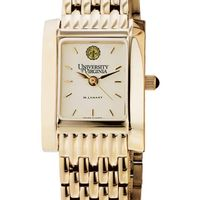 UVA Women's Gold Quad Watch with Bracelet
