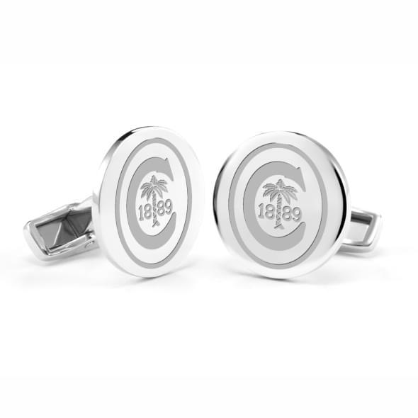 Clemson Sterling Silver Cufflinks