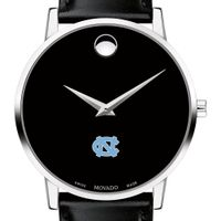 UNC Men's Movado Museum with Leather Strap