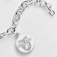 West Point Sterling Silver Charm Bracelet