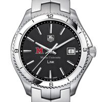 Miami University Men's Link Watch with Black Dial