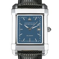 Notre Dame Men's Blue Quad Watch with Leather Strap
