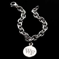 Wake Forest Sterling Silver Charm Bracelet