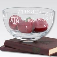 "Texas A&M 10"" Glass Celebration Bowl"