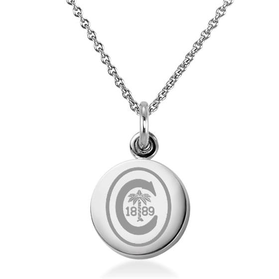 Clemson Sterling Silver Necklace with Silver Charm