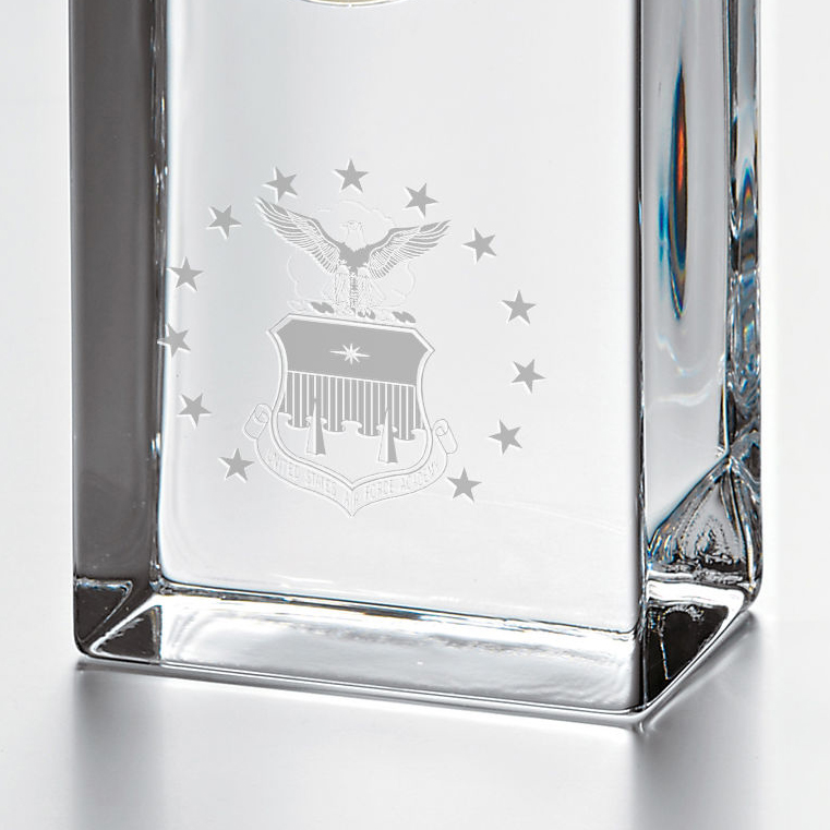 USAFA Tall Glass Desk Clock by Simon Pearce