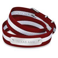 Texas A&M University Double Wrap NATO ID Bracelet