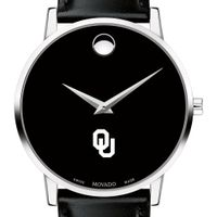 Oklahoma Men's Movado Museum with Leather Strap