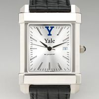 Yale Men's Collegiate Watch with Leather Strap