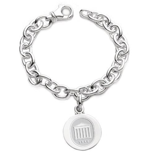 Ole Miss Sterling Silver Charm Bracelet