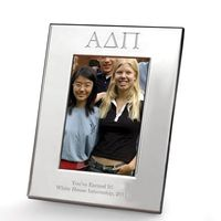 Alpha Delta Pi Polished Pewter 4x6 Picture Frame Image-1 Thumbnail