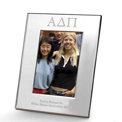 Alpha Delta Pi Polished Pewter 4x6 Picture Frame