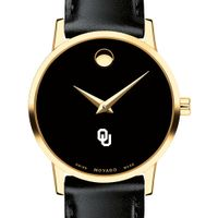Oklahoma Women's Movado Gold Museum Classic Leather