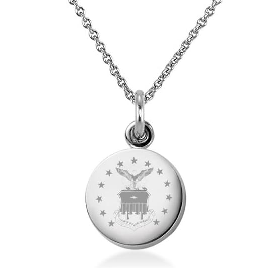 Air Force Academy Sterling Silver Necklace with Sterling Silver Charm